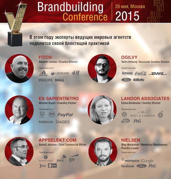 Рис: конференция Brandbuilding 2015 пройдет 26 мая в DI Telegraph в Москве
