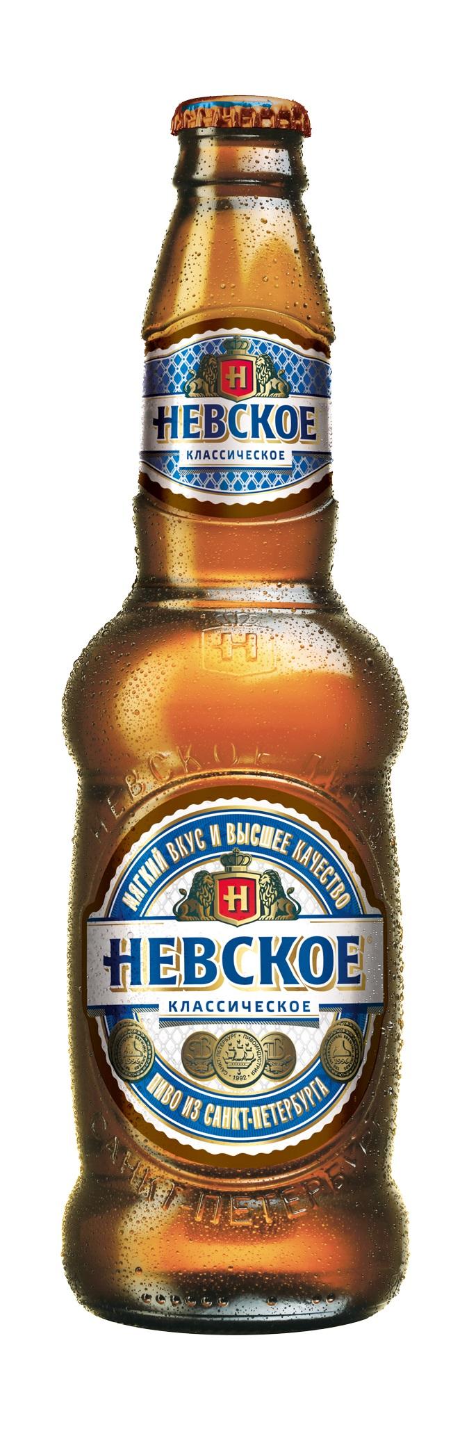 Фото: новый дизайн бутылки и этикетки «Невского», 2014