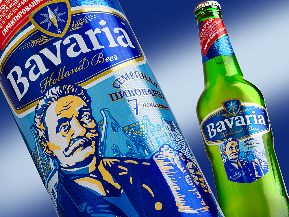 Фото: новый дизайн упаковки пива Bavaria на российском рынке