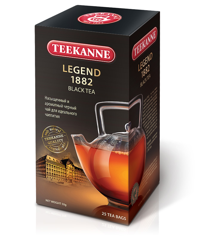 Фото: новый дизайн упаковки чаев TEEKANNE в России