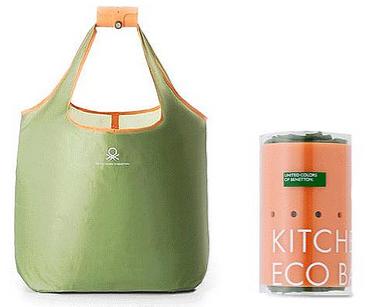 Экологически дружественная сумка от Benetton.