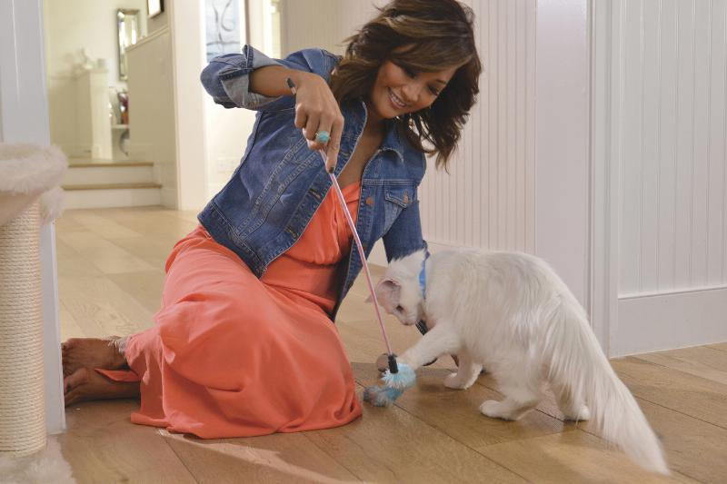Purina ONE Carrie Ann Inaba and Blizzard