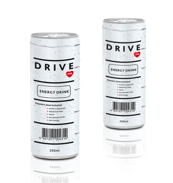 """""""DRIVE me.  Энергетический напиток.  Эта, придающая жизненных сил..."""
