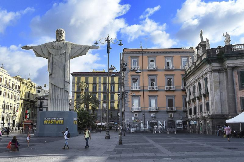 Rio's Iconic Landmark - Christ the Redeemer - Appears in Naples