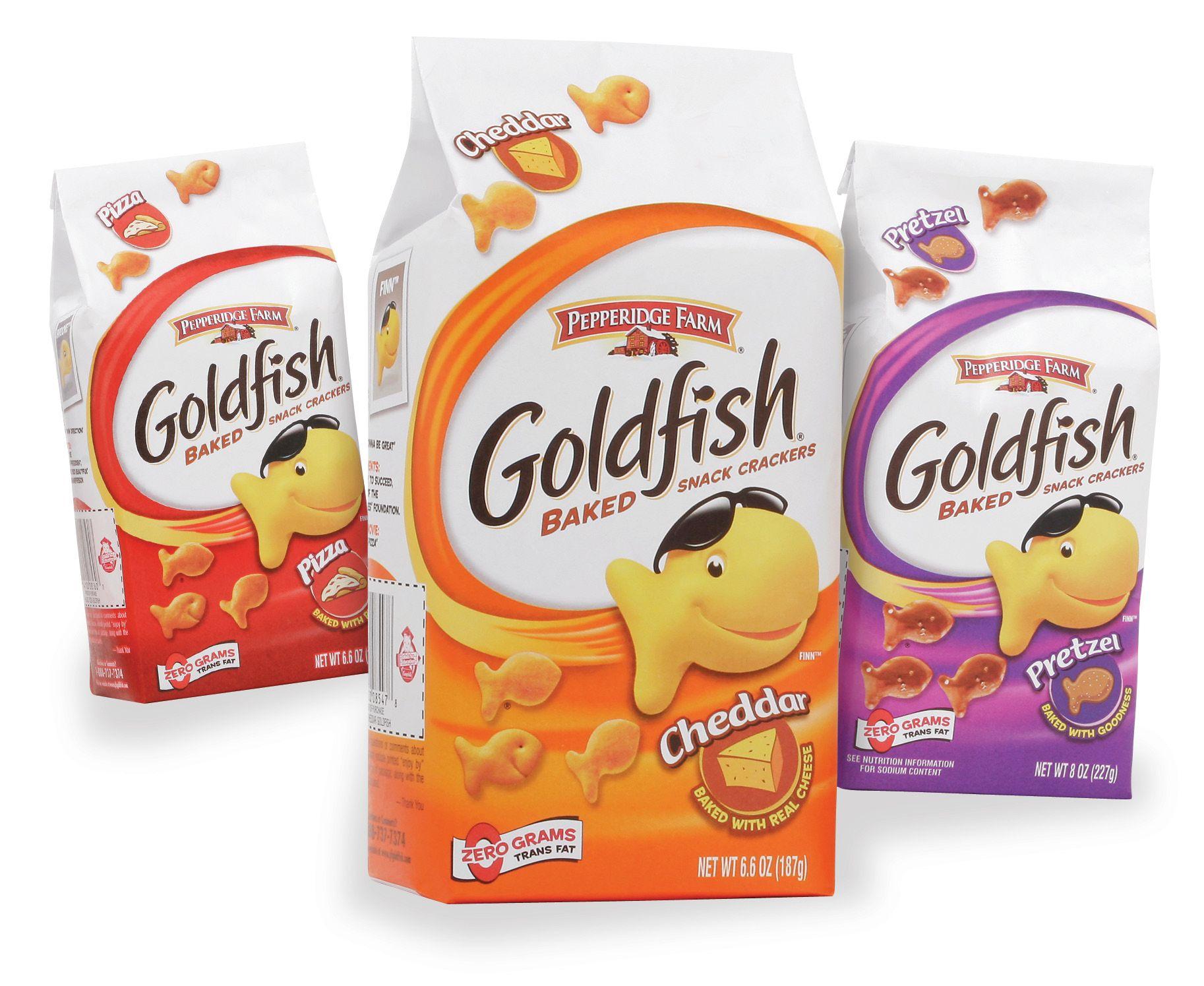 Маленькие хрустящие рыбки-крекеры Goldfish всегда были популярны среди...