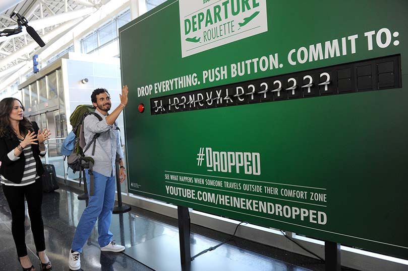 Heineken Departure Roulette at JFK Airport