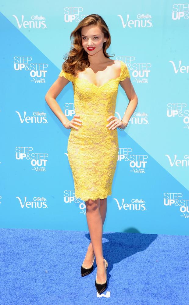 Model Miranda Kerr Kicks-Off The Gillette Venus Goddess Experience Benefitting Step Up Women's Network