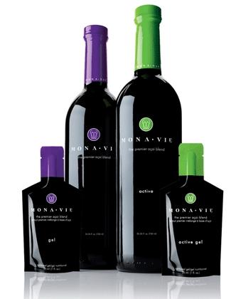 Monavie соки в винных бутылках