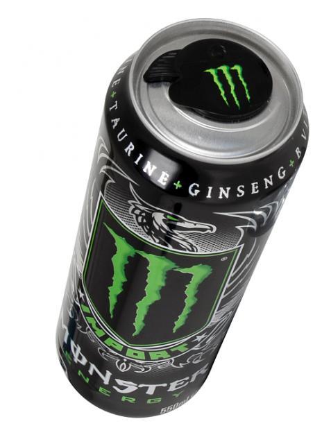 Monster Import с повторно закрывающейся крышкой.