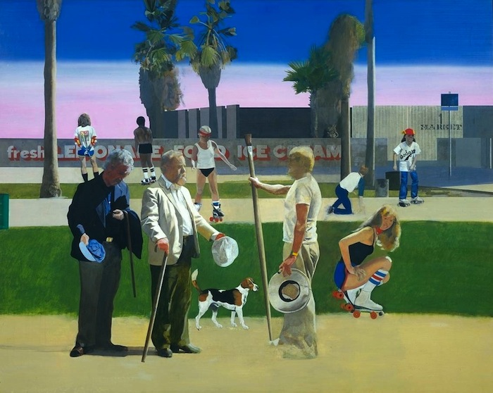 'The Meeting' or 'Have a Nice Day, Mr Hockney' 1981-3 by Peter Blake born 1932