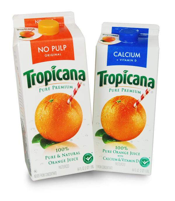 Tropicana Orange Juice Carton